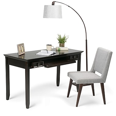 Simpli Home Amherst Desk in Dark Brown (AXCAMH-008)