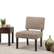 Simpli Home Virginia Accent Chair in Tan Check (AXCCHR-005-2)