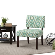 Simpli Home Virginia Accent Chair in Green Patterned (AXCCHR-005-5)