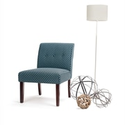 Simpli Home Sallybrook Accent Chair in Teal Patterned (AXCCHR-006-TL)