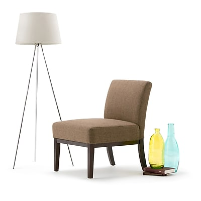 Simpli Home Upton Accent Chair in Brown (AXCCHR-007-BR)