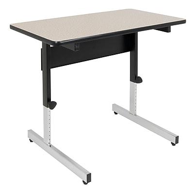 "Studio Designs Adapta 36""W Square Table Black and Spatter Gray (410381)"