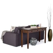 Simpli Home Artisan Wide Console Table in Medium Auburn Brown (AXCHOL014)