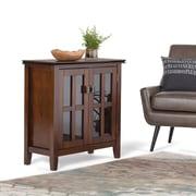 Simpli Home Artisan Low Storage Cabinet in Medium Auburn Brown (AXCHOL015)