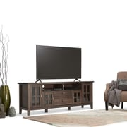 """Simpli Home Artisan 72"""" TV Media Stand in Natural Aged Brown (AXCHOL005-72-NAB)"""