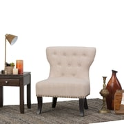 Simpli Home Kitchener Accent Chair in Natural (AXCKITS7305-NL)