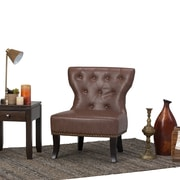 Simpli Home Kitchener Accent Chair in Rustic Brown (AXCKITS7305-RB)