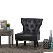 Simpli Home Kitchener Accent Chair in Black (AXCKITS7305-TBL)