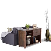 Simpli Home Monroe Console Table in Distressed Charcoal Brown (AXCMON-04)