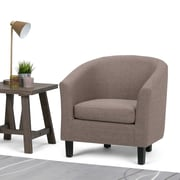 Simpli Home Austin Tub Chair in Fawn Brown (AXCTUB-003-BRL)