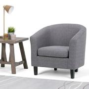 Simpli Home Austin Tub Chair in Grey (AXCTUB-003-GL)