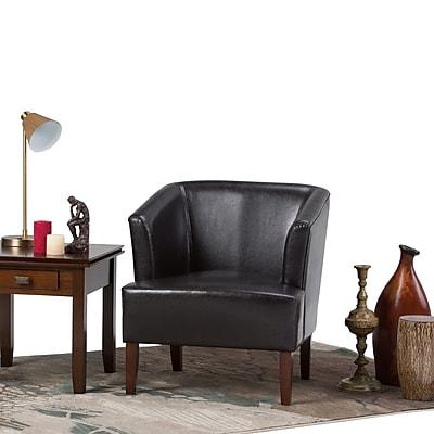 Simpli Home Longford Tub Chair in Dark Brown (AXCTUB-005-DBR)