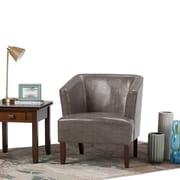 Simpli Home Longford Tub Chair in Elephant Grey (AXCTUB-005-EG)