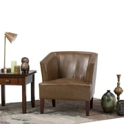 Simpli Home Longford Tub Chair in Saddle Brown (AXCTUB-005-SBR)