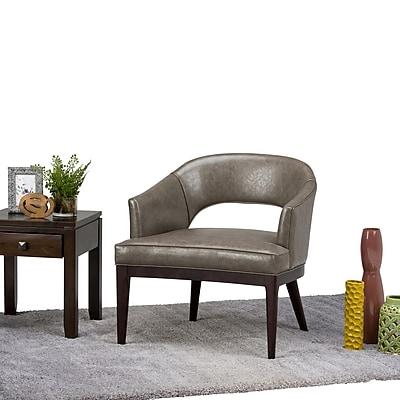 Simpli Home Mallory Mid Century Tub Chair in Elephant Grey (AXCTUB-006-EG)