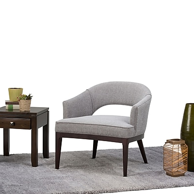 Simpli Home Mallory Mid Century Tub Chair in Grey (AXCTUB-006-GT)