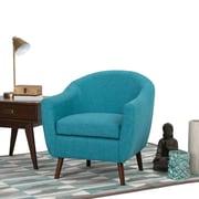 Simpli Home Roundstone Tub Chair in Aqua Blue (AXCTUB-007-ABL)