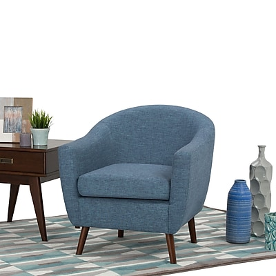 Simpli Home Roundstone Tub Chair in Denim Blue (AXCTUB-007-DBL)