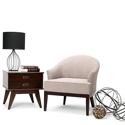 Simpli Home Louise Tub Chair in Taupe (AXCTUB-008-TPE)