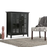 Simpli Home Acadian Medium Storage Cabinet in Black (AXREG007-BL)