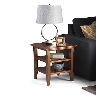 Simpli Home Acadian End Side Table in Honey Brown (AXWELL3-003-HB)