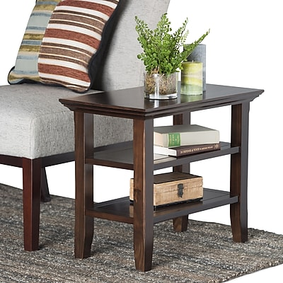 Simpli Home Acadian Narrow Side Table in Tobacco Brown (AXWELL3-008)