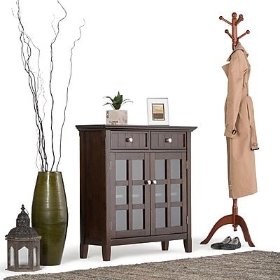 Simpli Home Acadian Entryway Storage Cabinet in Tobacco Brown (AXWELL3-013)