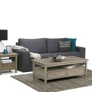 Simpli Home Warm Shaker Coffee Table in Distressed Grey (AXWSH001-GR)