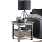 Simpli Home Warm Shaker End Side Table in Farmhouse Grey (AXWSH002-FG)