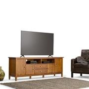 "Simpli Home Warm Shaker 72"" TV Media Stand in Honey Brown (AXWSH003-72)"