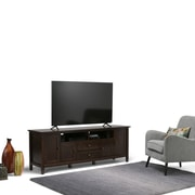 "Simpli Home Warm Shaker 72"" TV Media Stand in Tobacco Brown (AXWSH003-72-TB)"