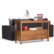 Simpli Home Warm Shaker Console Sofa Table in Honey Brown (AXWSH007)