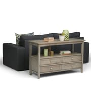 Simpli Home Warm Shaker Console Sofa Table in Distressed Grey (AXWSH007-GR)