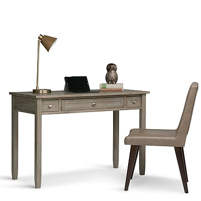 Simpli Home Warm Shaker Desk in Honey Brown (AXWSH010)