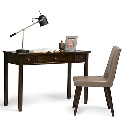 Simpli Home Warm Shaker Desk in Tobacco Brown (AXWSH010-TB)