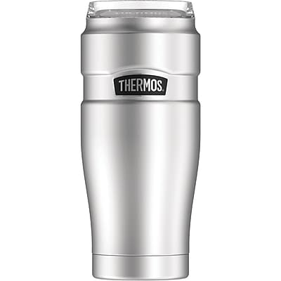 Thermos 32-Ounce Stainless Steel Travel Tumbler with 360 degrees Drink Lid, Silver (SK1300ST4)
