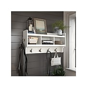 kathy ireland® Home by Bush Furniture Woodland Wall Coat Rack, White Ash, (WDH340WAS-03)