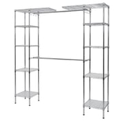 "Sandusky Wire Garment Shelving, 55""W, Chrome, Silver (EZGR551472)"