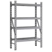 "Sandusky Treadplate Welded Racks, 48""W, 4 Level, Welded Steel, Silver (TP481872W4)"