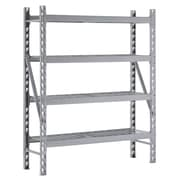 "Sandusky Treadplate Welded Racks, 65""W, 4 Level, Welded Steel, Silver (TP601872W4)"