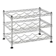"Sandusky Small Wire Wine Rack, 18""W, Chrome, Silver (WBS181212)"