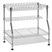 "Sandusky Muscle Rack Wire Dish Rack, 18""W, Chrome, Silver (WDR181217)"