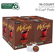 McCafe Premium Roast Coffee, Keurig® K-Cup® Pods, 96/Carton (080375)