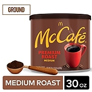 McCafe Premium Roast Arabica Ground Coffee, Medium Roast, 30 Oz. (071519)
