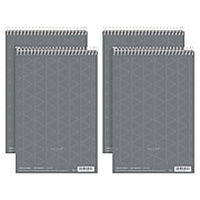 """TOPS Prism Steno Pads, 6"""" x 9"""", Gregg Ruled, Gray, 80 Sheets/Pad, 4 Pads/Pack (80274)"""