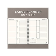 "2022 AT-A-GLANCE 8.5"" x 11"" Weekly & Monthly Planner, Elevation Eco, Gray (75950R3022)"