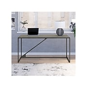 """Bush Furniture Refinery 62"""" Industrial Desk, Cottage White (RFD162CWH-03)"""
