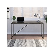 "Bush Furniture Refinery 62"" Industrial Desk, Dark Gray Hickory (RFD162GH-03)"