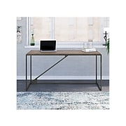 "Bush Furniture Refinery 62"" Industrial Desk, Restored Gray (RFD162RTG-03)"
