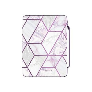"i-Blason iPadPro2020-12.9-Cosmo-Pen-Ameth Thermoplastic Polyurethane (TPU) Folio for 12.9"" iPad Pro, Marble Purple"